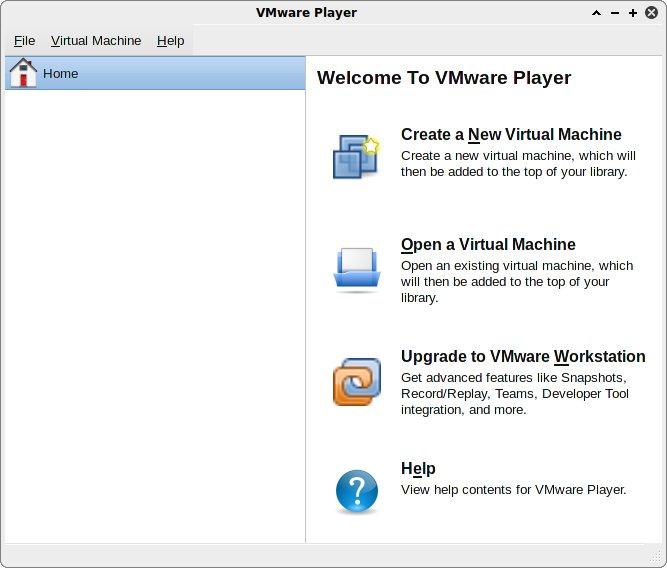 VMware Player: main window